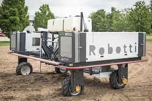 Twee Robotti veldrobots van AgroIntelli komen dit voorjaar naar Groningen, waar ze worden ingezet voor robotloonwerk