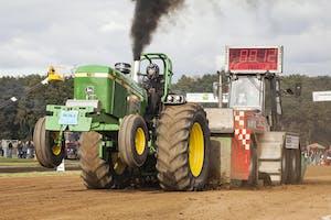 Een archieffoto van trekkertrek Boerdonk in 2012. Boerdonk is één van de weinige wedstrijden die dit jaar plaatsvindt met publiek.