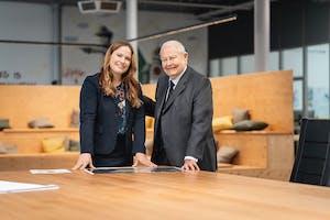 Helmut Claas met zijn dochter Cathrina Claas-Mühlhäuser. Foto: Claas