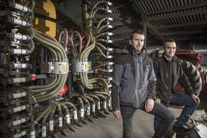 Johan van de Bruinhorst (32, links) en Jacob Boeder (35) vormen de directie van Eland Machines
