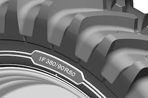 De cultuurwielen hebben een IF-karkas, waarmee de band in theorie 20% meer draagvermogen heeft bij eenzelfde bandenspanning als een standaard band in die maatvoering. Foto's: Michelin.