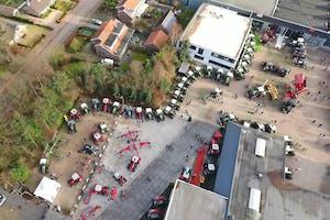 Fendt-groen en MF-rood in het Noord-Italiaanse Verona bij Agri Verde, de nieuwe partner van Mechan Groep in Achterberg..